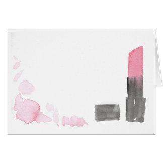 Tarjeta de nota de color rosa oscuro del lápiz
