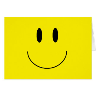"Tarjeta de nota de la ""cara feliz"""