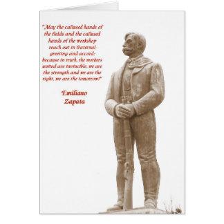 Tarjeta de nota de la cita 2 de Emiliano Zapata