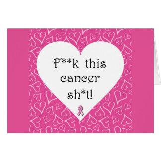 Tarjeta de nota de la conciencia del cáncer de