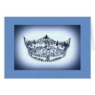 Tarjeta de nota de la corona del desfile