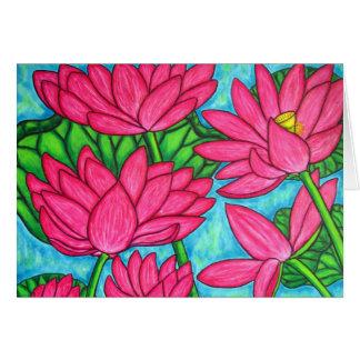 Tarjeta de nota de la dicha de Lotus
