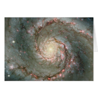 Tarjeta de nota de la galaxia espiral de M51