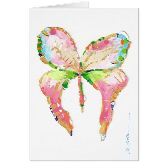 Tarjeta de nota de la mariposa de abril