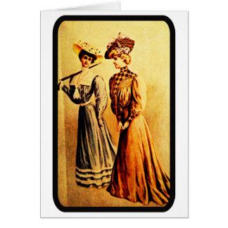 Tarjeta de nota de la moda de las señoras del