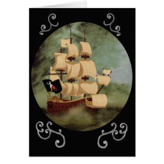 Tarjeta de nota de la nave de Blackbeard (venganza