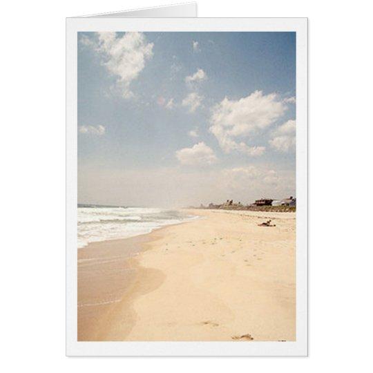 TARJETA de NOTA de la playa de Hamptons