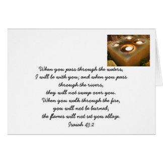 Tarjeta de nota de la promesa de dios
