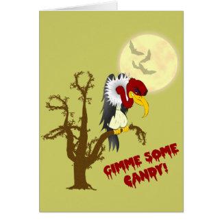 Tarjeta de nota de la receta del halcón de Hallowe