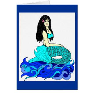 Tarjeta de nota de la sirena de la hawaiana