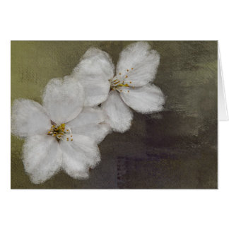 Tarjeta de nota de las flores de cerezo