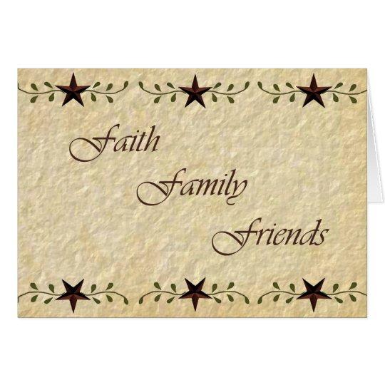 Tarjeta de nota de los amigos de la familia de la