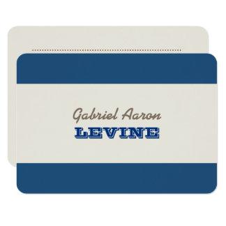Tarjeta de nota de los azules marinos y de la invitación 8,9 x 12,7 cm