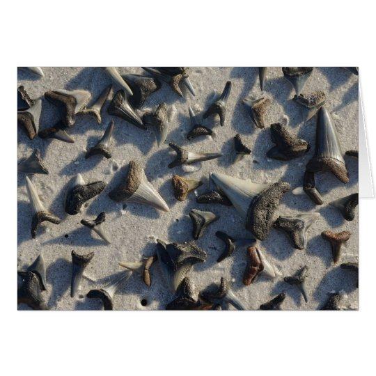 Tarjeta de nota de los dientes de los tiburones