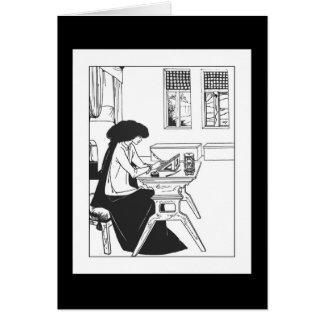 Tarjeta de nota de Nouveau del arte de Beardsley I
