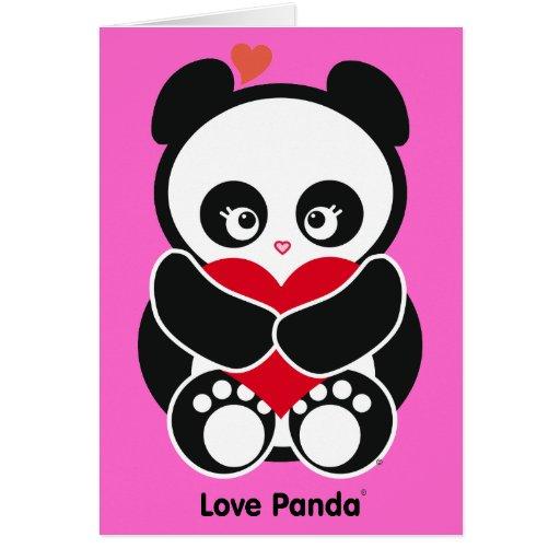 Tarjeta de nota de Panda® del amor