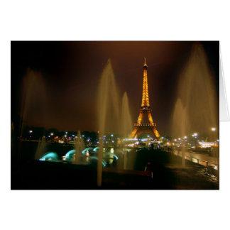 Tarjeta de nota de París
