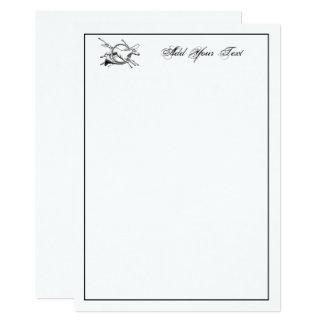 Tarjeta de nota de salto del cuerno del caballo invitación 12,7 x 17,8 cm