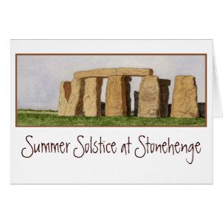 Tarjeta de nota de Stonehenge