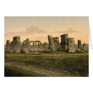 Tarjeta de nota de Stonehenge del vintage