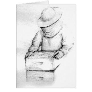 Tarjeta de nota del apicultor
