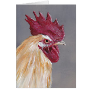 Tarjeta de nota del arte del pájaro del gallo de