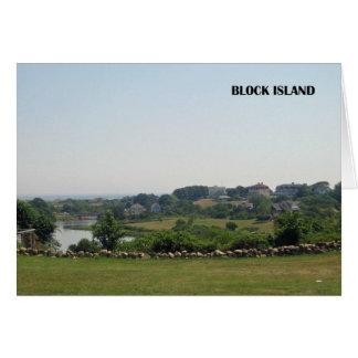 Tarjeta de nota del Block Island