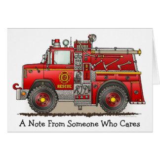 Tarjeta de nota del camión del rescate de la
