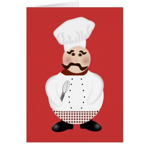 Tarjeta de nota del cocinero. Cocinero del dibujo