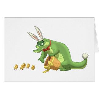 Tarjeta de nota del cocodrilo de Pascua