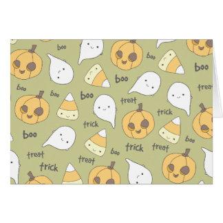 Tarjeta de nota del feliz Halloween del abucheo el