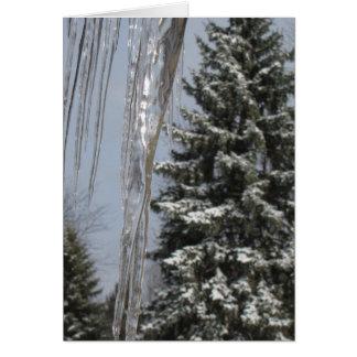 Tarjeta de nota del invierno