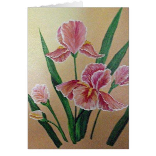 Tarjeta de nota del iris