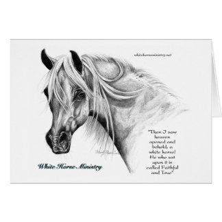 Tarjeta de nota del ministerio del caballo blanco