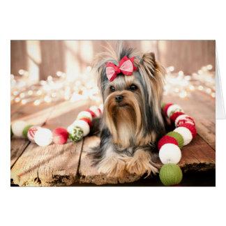 Tarjeta de nota del navidad del perrito de