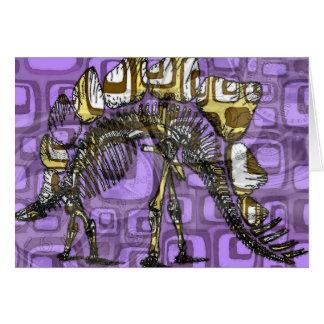 """Tarjeta de nota """"del otro dinosaurio púrpura"""""""