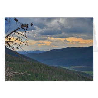 Tarjeta de nota del paisaje de Mountian