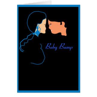 Tarjeta de nota del topetón del bebé