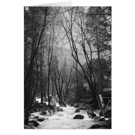 Tarjeta de nota del valle de Yosemite