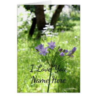 Tarjeta de nota del Wildflower del personalizable