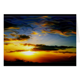 tarjeta de nota digital surrealista de la pintura