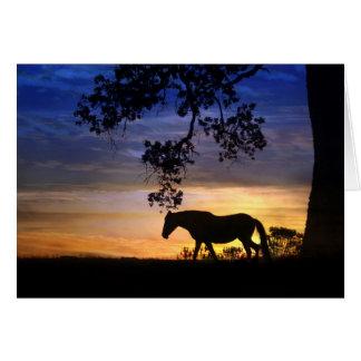 Tarjeta de nota en blanco del caballo de la