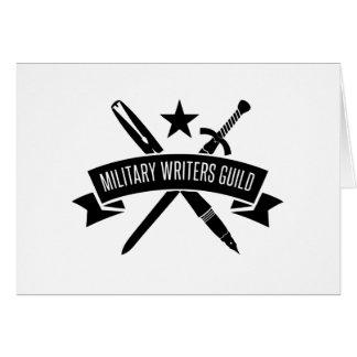 Tarjeta de nota en blanco, logotipo de MWG