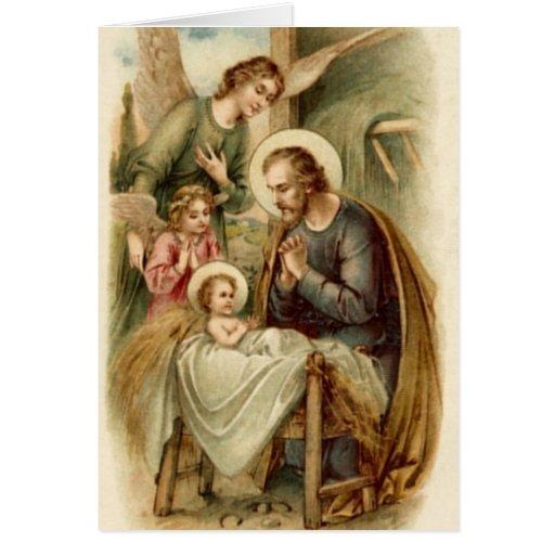 Tarjeta de nota (escritura): Natividad de San José