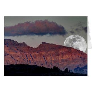 Tarjeta de nota estupenda de la luna
