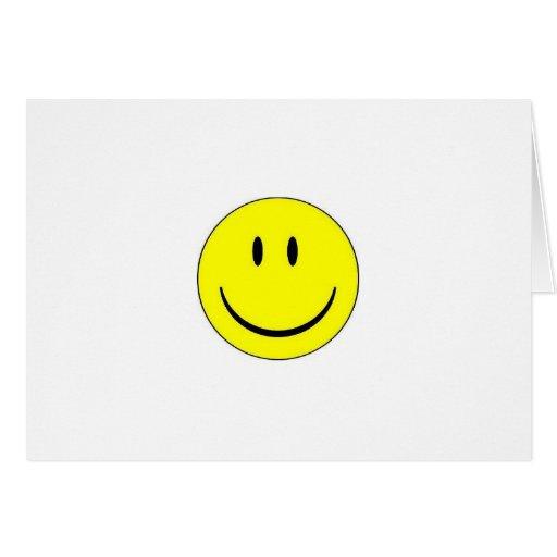 Tarjeta de nota feliz de la cara