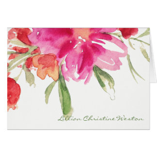 Tarjeta de nota floral de la condolencia de la