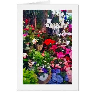 Tarjeta de nota floral del espacio en blanco de la