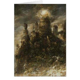 Tarjeta de nota gótica del castillo