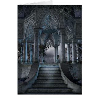 Tarjeta de nota gótica del mausoleo